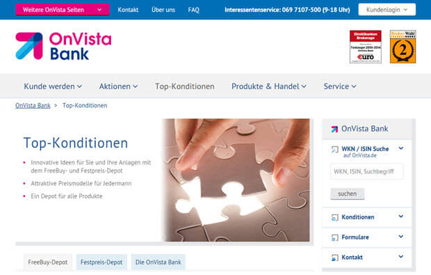 Onvista Bank Top-Konditionen
