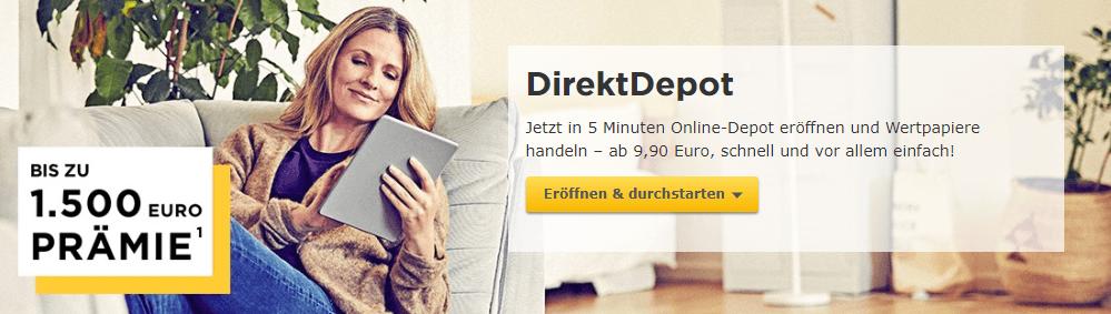 Das DirektDepot der Commerzbank