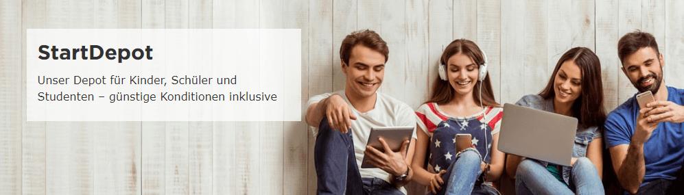 Die Commerzbank bietet auch ein StartDepot für Junge Leute