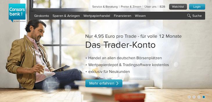 consorsbank wertpapierdepot test