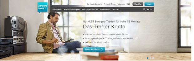 günstiges Trader Konto bei der Consorbank