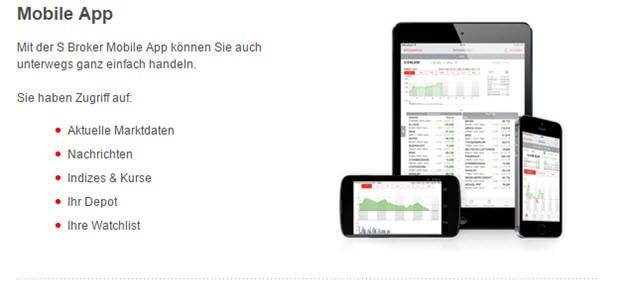 S-Broker - mobil als App verfügbar