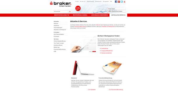 Die Service-Seite von S-Broker