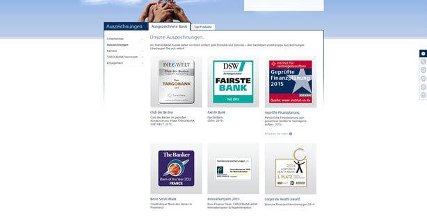 Die Targobank verfügt über zahlreiche Auszeichnungen (z.B. Top Online-Broker - Handelsblatt - Ausgabe 08/2013)
