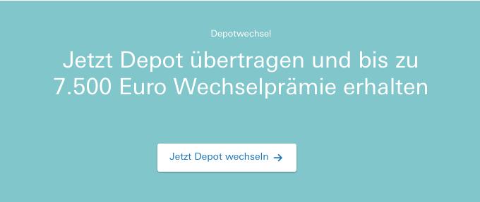 Deutsche Bank 7.500€ Wechselprämie
