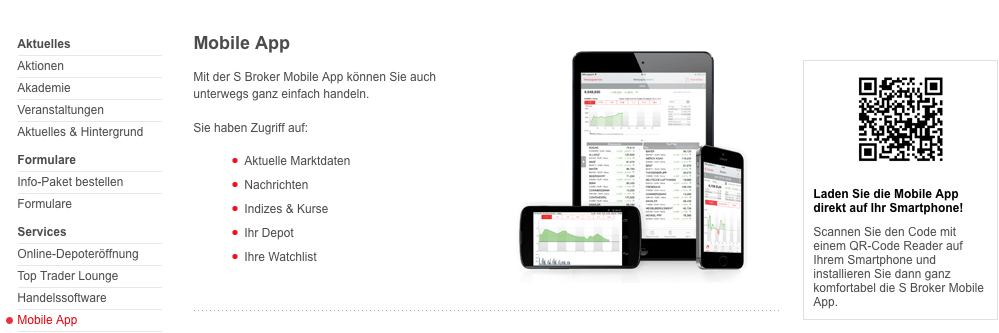 SBroker mobile app