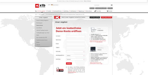 Bei XTB wird ein Demokonto angeboten