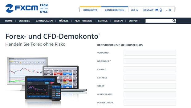 In nur wenigen Schritten ein Demokonto bei FXCM eröffnen