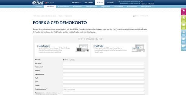 In nur wenigen Schritten ein Demokonto eröffnen - FXFlat Erfahrungsbericht