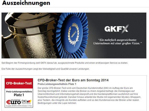 GKFX überzeugt mit seinen vielen Auszeichnungen