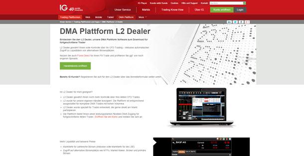 IG Handeln mit der DMA Plattform L2 Dealer