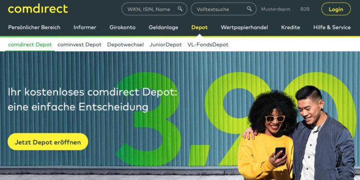 comdirect Ordergebühren