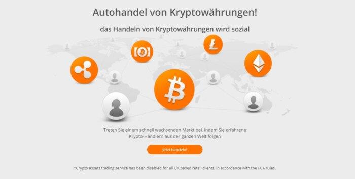 Zulutrade Kryptowährungen