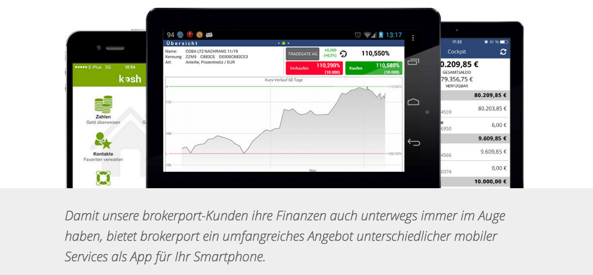 Brokerport bietet Tradern verschiedene Apps