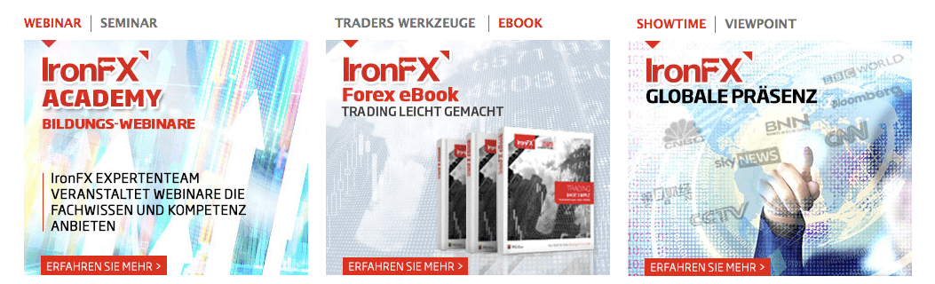IronFx Erfahrungen Extras