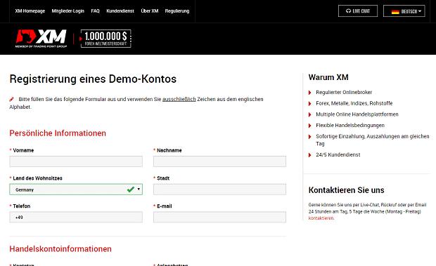 XM.com Demokonto