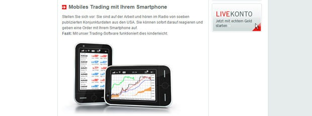 QTrade auch mobil nutzbar