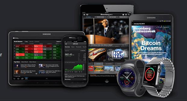 Bloomberg Börsen App überall nutzen
