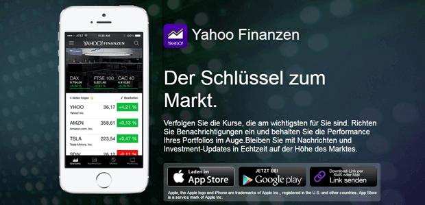 Yahoo! Finance App nutzen
