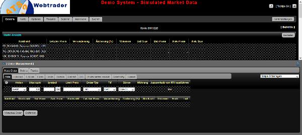 Agora Webtrader Screenshot
