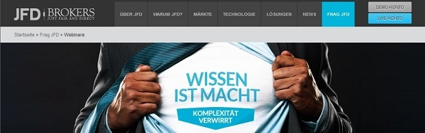 JFD Brokers Webinare und Live-Chat