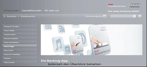 Mobile Banking bei der Audi Bank