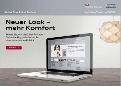 Das Online-Banking bei der Audi Bank