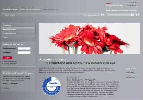 Die Auszeichnungen der Audi Bank