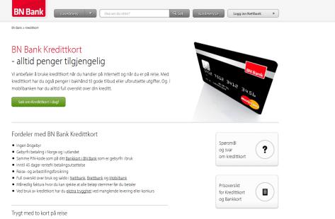 Kreditkarten bei der BN Bank