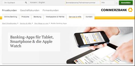 Das Mobile-Angebot von der Commerzbank