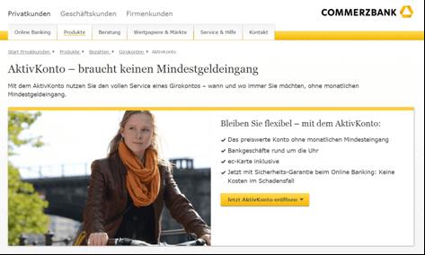 Das AktivKonto bei der Commerzbank