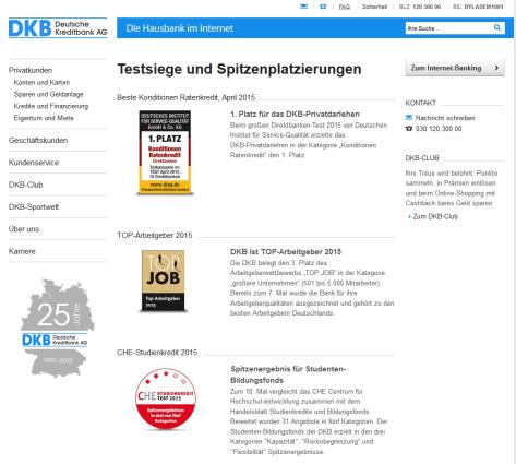 Auszeichnungen der DKB im Überblick