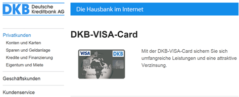 Das Kreditkartenangebot von der DKB
