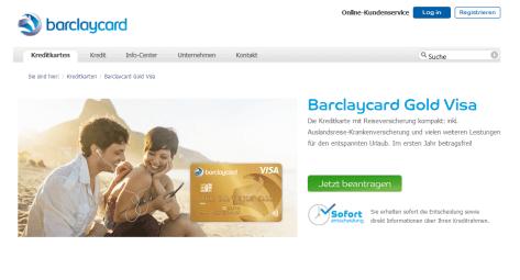 Die Barclaycard Gold Visa eignet sich für Auslandseinsätze