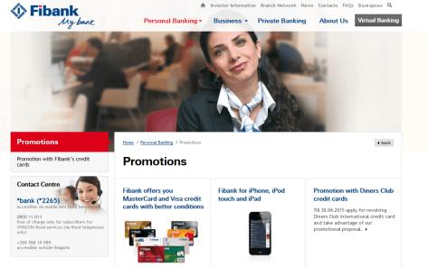 Promotions bei der FiBank