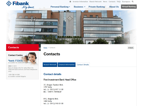 Kundensupport bei der FiBank