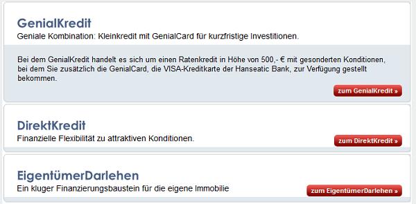 Das Kreditangebot der Hanseatic Bank