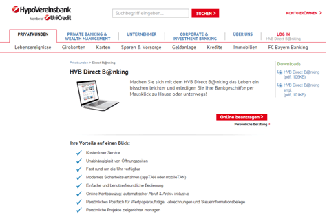 Das Online-Angebot der HypoVereinsbank - Die Girokonto Erfahrungen