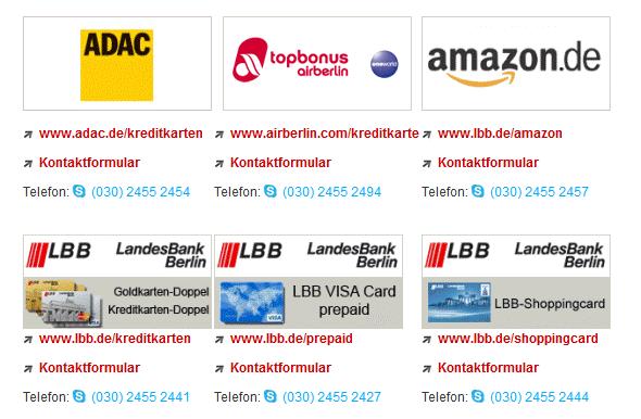 Unterschiedliche Servicenummern bei der LBB