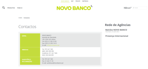 Support bei der Novo Banco