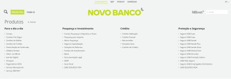 Das Produktangebot der Novo Banco