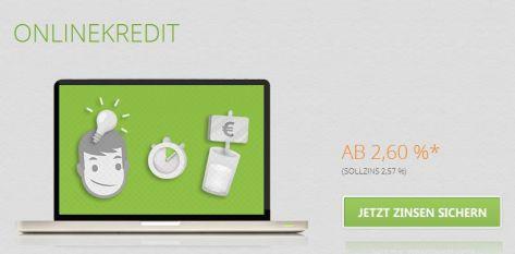 SWK Bank Online-Kredit schon ab 2,60 Prozent