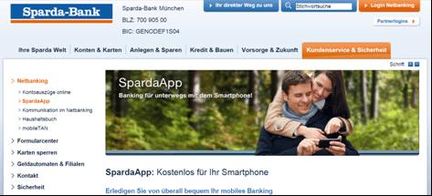 Das Mobile-Angebot der Sparda-Bank München