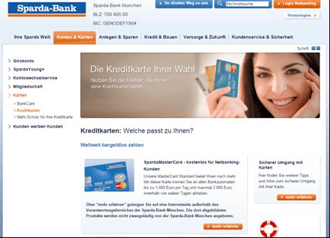 Das Kreditkartenangebot der Sparda-Bank München