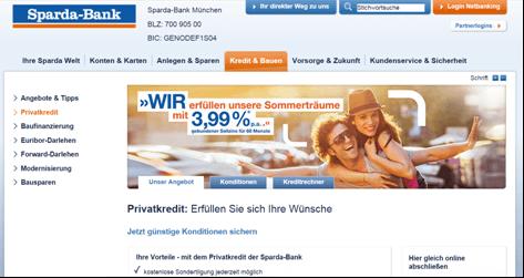 Der Privatkredit bei der Sparda-Bank München