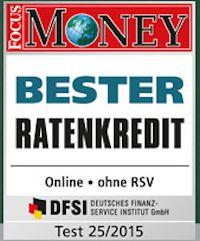 """Von """"Focus Money"""" zum besten Ratenkredit gewählt"""