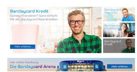 Barclaycard bietet neben Kreditkarten auch Kredite