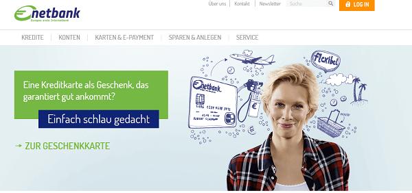 Die Webseite der netbank