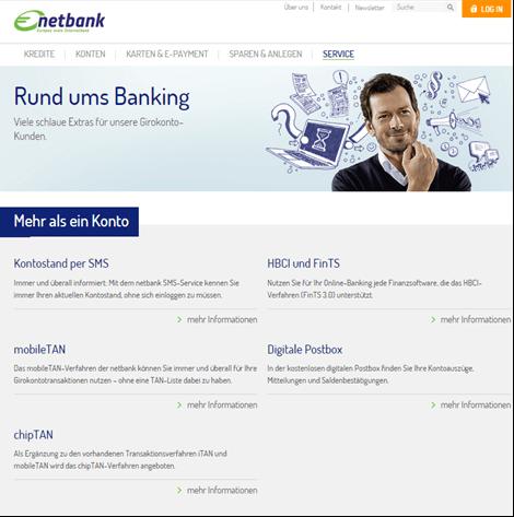 Das Online-Banking bei der netbank