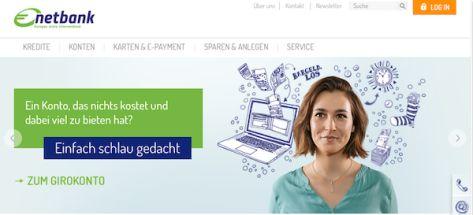 Die Web-Präsenz der netbank